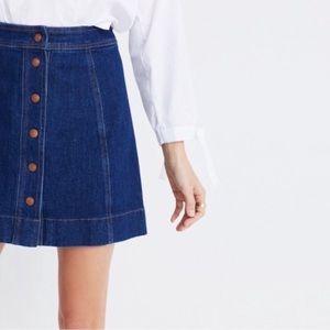 Madewell Metropolis Snap Jean Skirt Size 2